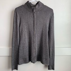 Belldini Gray Jacket With Rhinestone Zipper